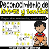 Letter recognition- EXIT TICKETS SPANISH