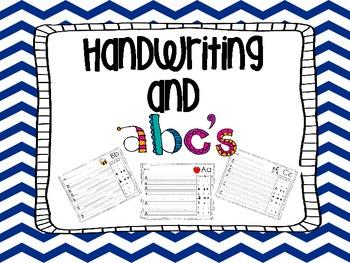 Letter recognition and Handwriting practice- Kindergarten