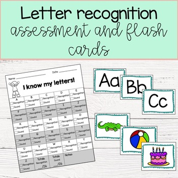 Letter recognition assessment with flash cards