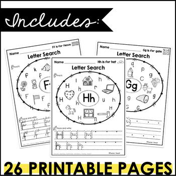 Letter Sounds and Letter Recognition Worksheets