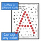 Letter recognition with daubers (Find the hidden uppercase letter)