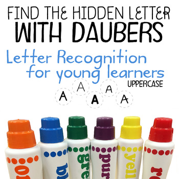 Letter recognition with daubers (Find the hidden uppercase
