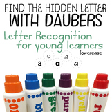 Letter recognition with daubers (Find the hidden lower letter)