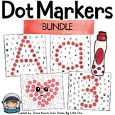 Math and Literacy Printables with Dot Markers Bundle for P