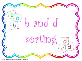 Letter reversals b and d