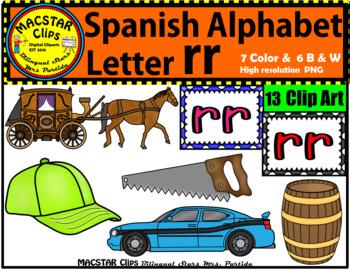 Letter rr Spanish Alphabet Clip Art   Letra doble r Person