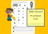 Letter search A-Z 29 Writing Worksheets for Preschool