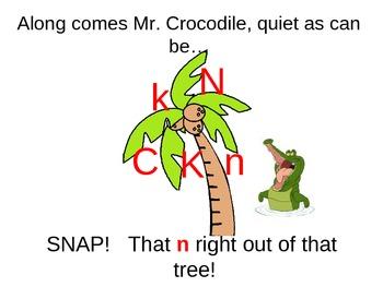 Letter song (like 5 little monkeys swinging in a tree)