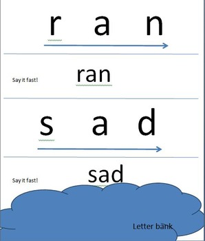 Letter sort and Oral blending for Special Needs Learners