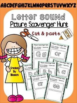 Letter sound (Picture scavenger hunt) pack