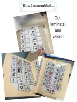 Letter sounds file folder game