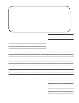 Letter template - dashed lines