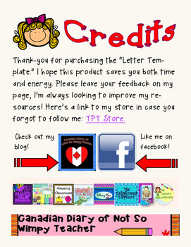 Writing Letter template