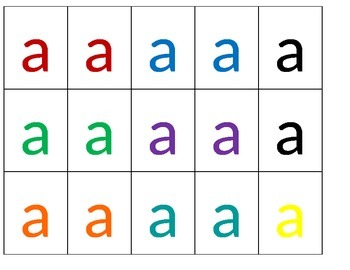 Letter tiles for Vocabulary practice
