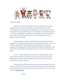 Letter to 1st grade Parent