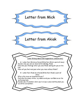 Letter to 4th Grade Character Book Project Themes 1 & 2