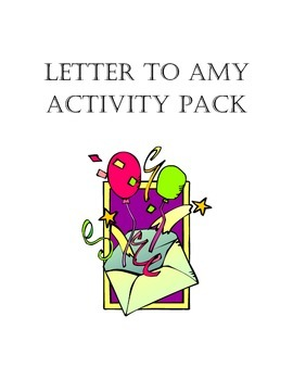 Letter to Amy Activity Pack