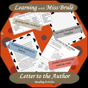 Reading Activity - Letter to Author