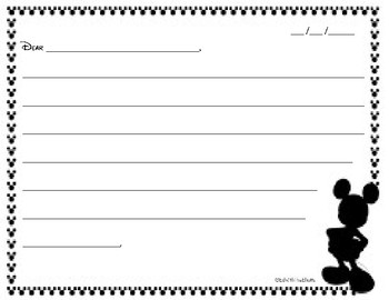 Letter to Character Blank Outline