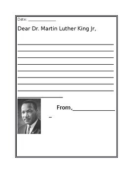 Letter to Dr. Martin Luther King (Bulletin board)