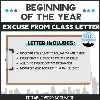 Letter to Excuse Students from Class
