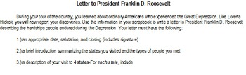 Letter to FDR