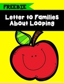 Letter to Families About Looping With Your Class