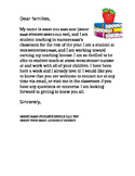 Letter to Families from Student Teacher