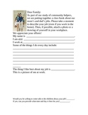 Letter to Family for Community Helper Week