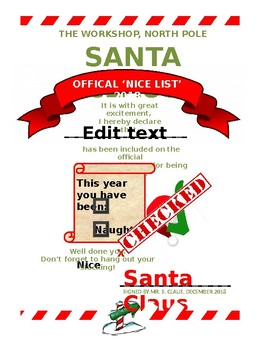 Letter to/From Santa