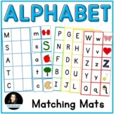 Alphabet Matching Mats for Letter Names and Beginning Sounds