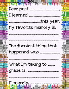 Letter to Me {a beginning/end of school activity}
