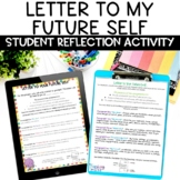 Letter to My Future Self End of School Year Writing Activity