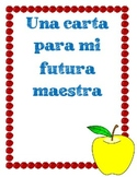 Letter to My Future Teacher (SPANISH)