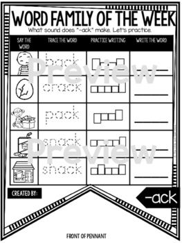 Word Family Activities & Short Vowel Worksheets, Word Family Worksheets