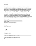Letter to Parents Biography Project