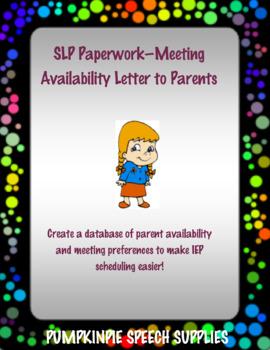 Letter to Parents - Convenient Meeting Times