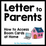 Letter to Parents: How to access Boom cards a home (Distan