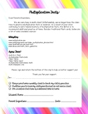 Letter to Parents for Multiplication Facts Fluency