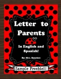 Letter to Parents in Spanish and English