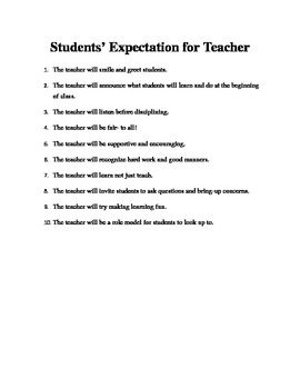 Letter to Parents on the First Day of School