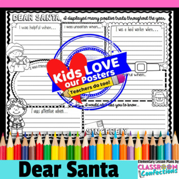 Letter to Santa: Christmas Writing Activity