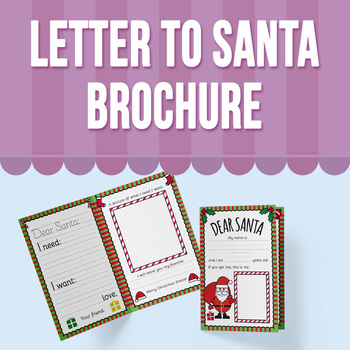 Letter to Santa Brochure - English Version