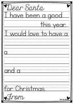 Letter to Santa Craftivity