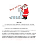 Letter to Santa Creative Writing Project
