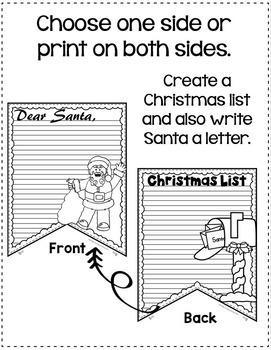 "Letter to Santa: ""Dear Santa"" Letter: Christmas Writing Activity"
