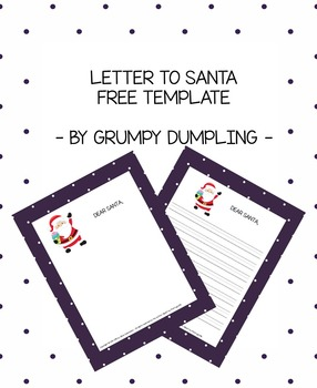 Letter to Santa Free Template