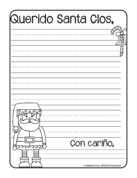 Letter to Santa Freebie { Spanish }