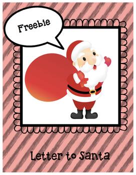Letter to Santa Freebie
