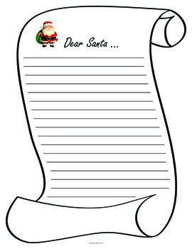 Letter to Santa Lined Paper